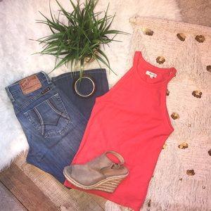 Madewell Orange/Red Tank